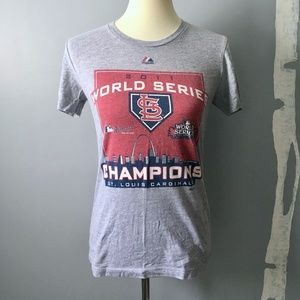 STL Cardinals 2011 World Series Graphic Tee Large